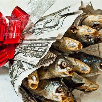 Букет с рыбой