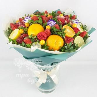 Фруктовый букет с цветами