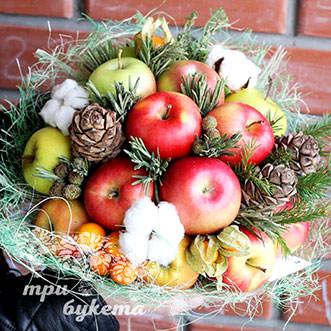 Букет яблок на Новый год